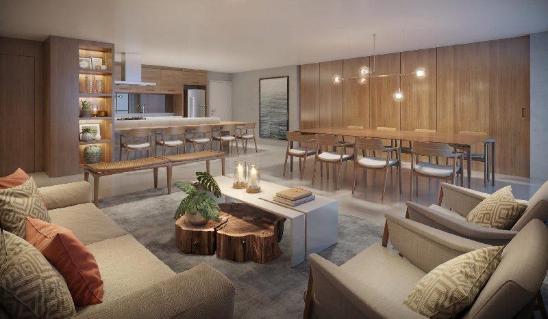 salão de festas gourmet com lounge externo