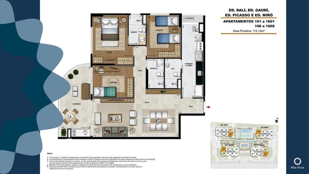 Apartamento 2 quartos 1 suíte
