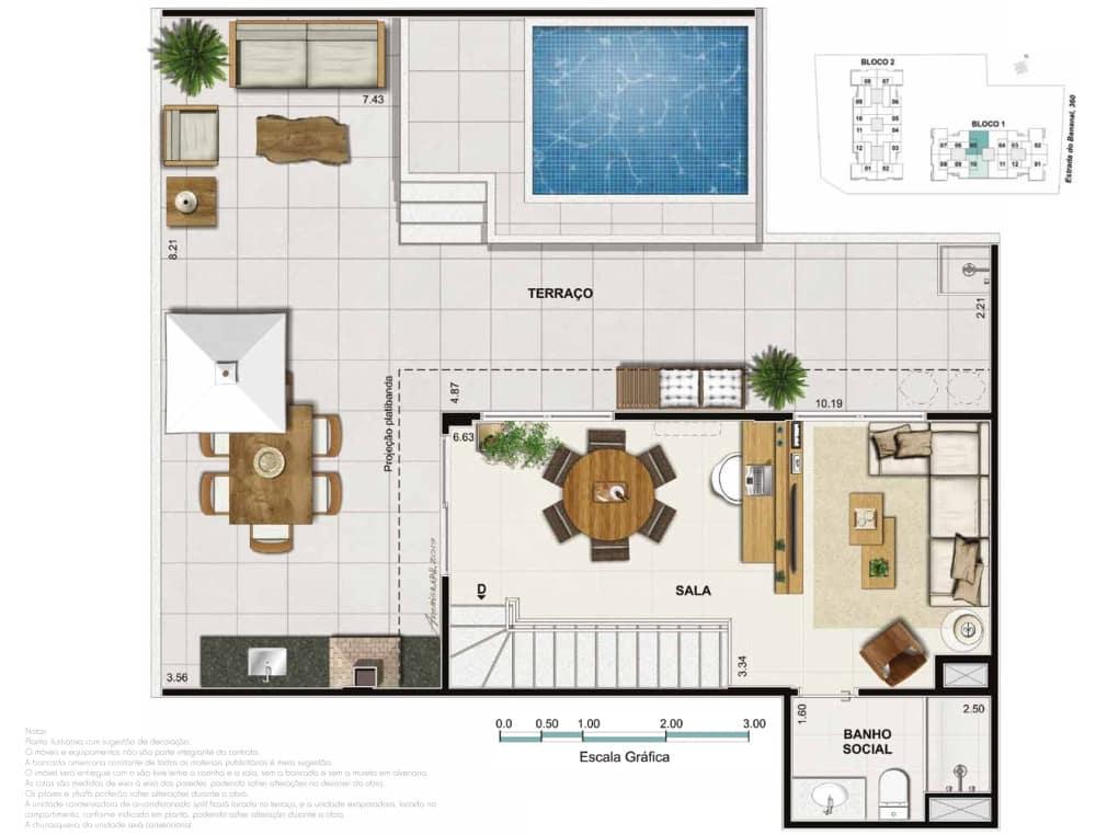Cobertura 4 quartos 2 suite