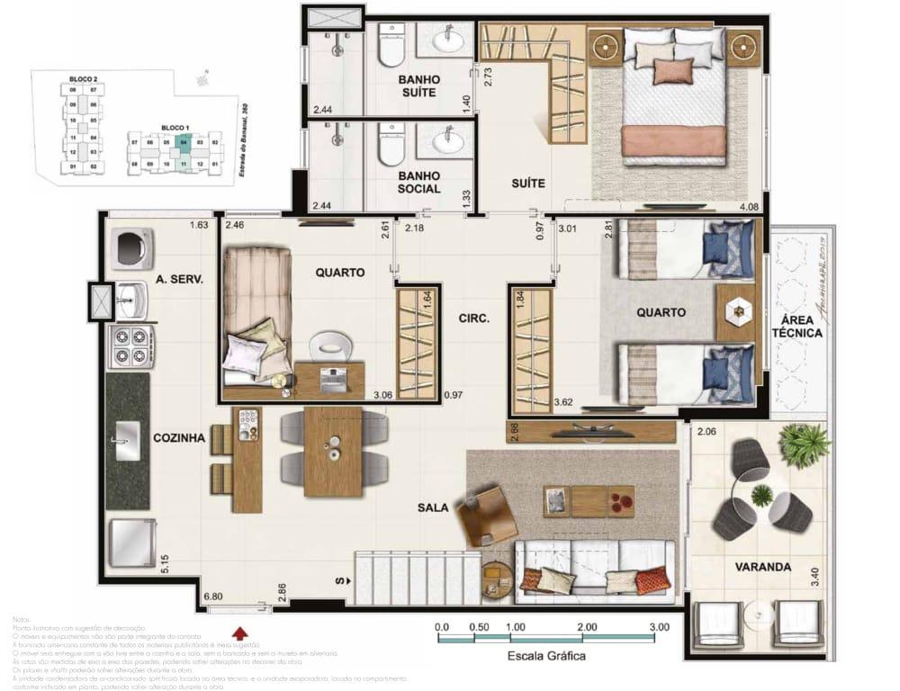 Cobertura 4 quartos 1 suite