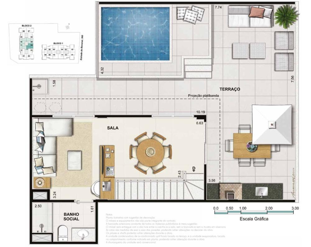 Apartamento 3 quartos 2 suites