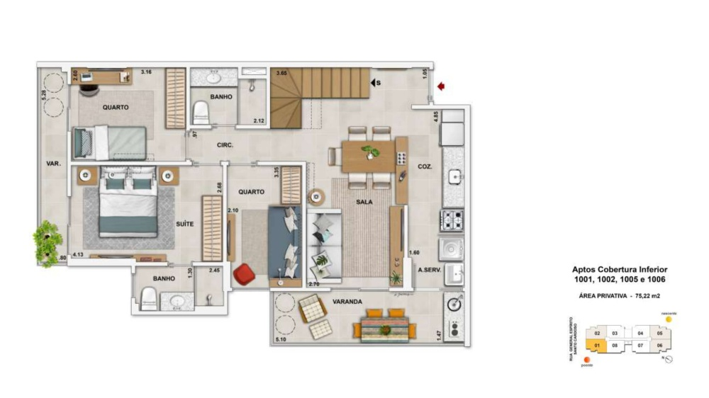 Cobertura Duplex 3 quartos c/suíte