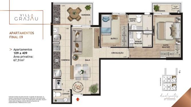 Apartamento 2 suítes