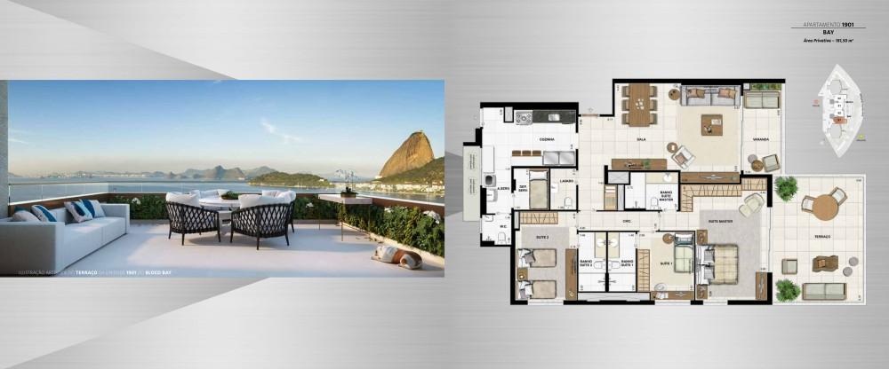 3 suítes com terraço