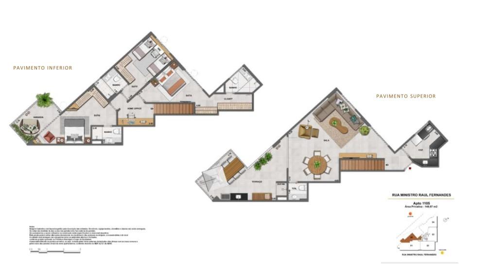 Cobertura Duplex 3 quartos 3 suítes