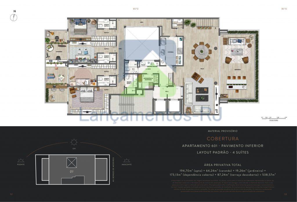apartamento na planta borges de medeiros 67 Dom