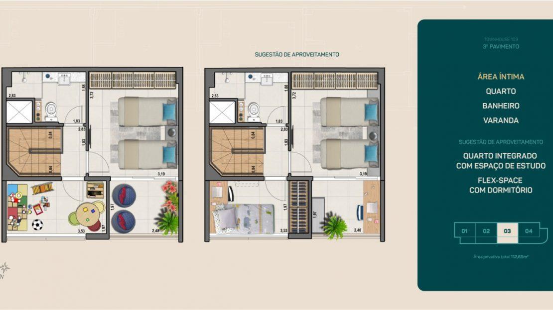 flamengo town houses garden terceiro pavimento