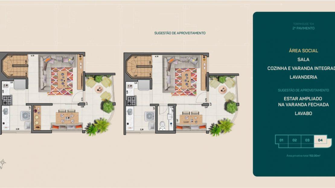 flamengo town houses planta garden