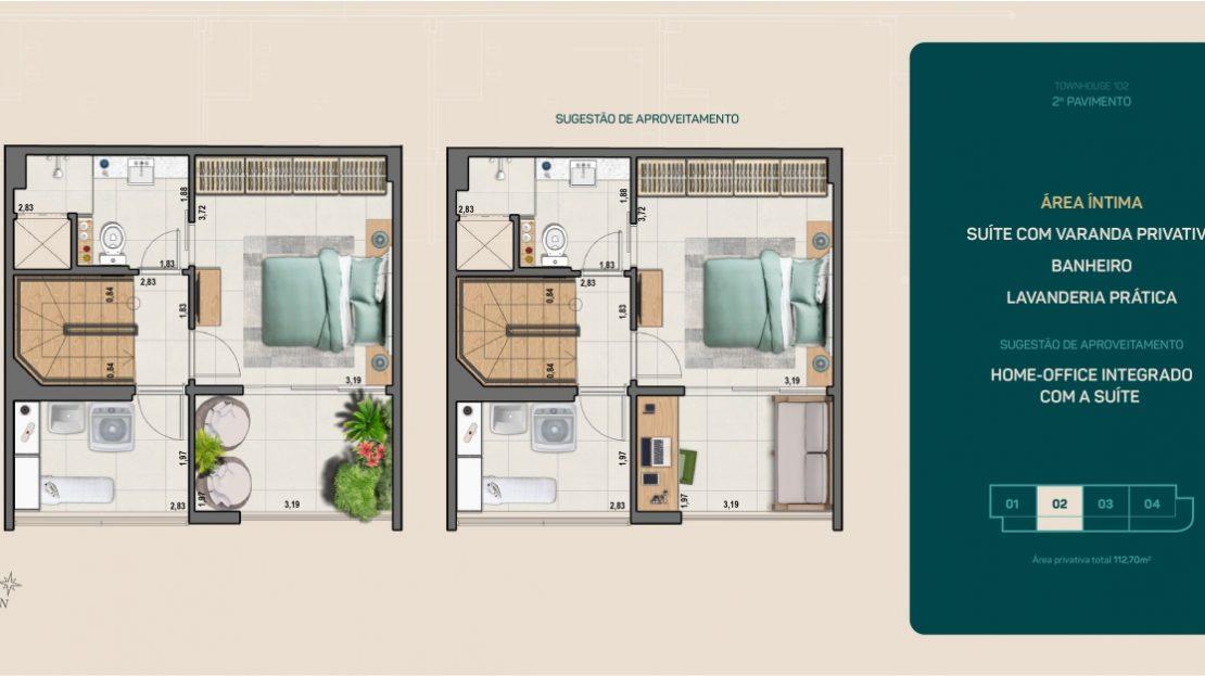 flamengo town houses suite com varanda flamengo