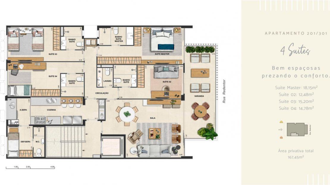 redentor ipanema 4 suites